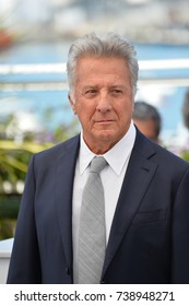 "CANNES, FRANCE. May 21, 2017: Dustin Hoffman at the photocall for ""The Meyerowitz Stories"" at the 70th Festival de Cannes"
