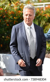 """CANNES, FRANCE. May 21, 2017: Dustin Hoffman at the photocall for """"The Meyerowitz Stories"""" at the 70th Festival de Cannes"""