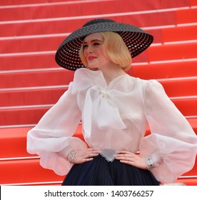 "CANNES, FRANCE. May 21, 2019: Elle Fanning at the gala premiere for ""Once Upon a Time in Hollywood"" at the Festival de Cannes.