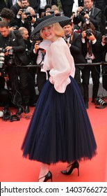 """CANNES, FRANCE. May 21, 2019: Elle Fanning at the gala premiere for """"Once Upon a Time in Hollywood"""" at the Festival de Cannes.Picture: Paul Smith / Featureflash"""
