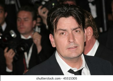 CANNES, FRANCE - MAY 21: Actors Charlie Sheen attends the 'Platoon' Screening at the Palais during the 59th International Cannes Film Festival May 21, 2006 in Cannes, France