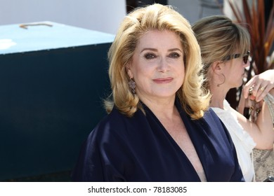 CANNES, FRANCE - MAY 21: Actress Catherine Deneuve attends the 'Les Bien-Aimes' Photocall at Palais des Festivals during the 64th Annual Cannes Film Festival on May 21, 2011 in Cannes, France.