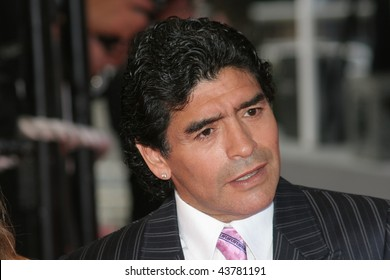 CANNES, FRANCE - MAY 21: Argentinean football legend Diego Maradona  attends the 'Che' premiere at the Palais des Festivals during the May 21, 2008 in Cannes, France.