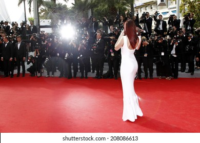 CANNES, FRANCE - MAY 21: Barbara Palvin attends 'The Search' Premiere during the 67th Cannes Film Festival on May 21, 2014 in Cannes, France.