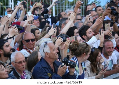 CANNES, FRANCE - MAY 21: A general view of atmosphere  attends the 'Elle' Premiere during the 69th annual Cannes Film Festival at the Palais des Festivals on May 21, 2016 in Cannes, France.