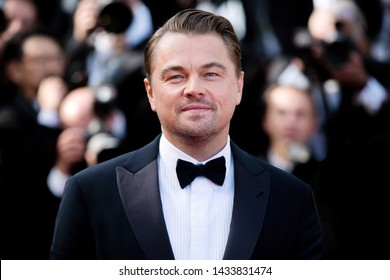 "CANNES, FRANCE - MAY 21: Leonardo DiCaprio attends the premiere of the movie ""Once Upon A Time In Hollywood"" during the 72nd Cannes Film Festival on May 21, 2019 in Cannes, France."