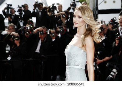 CANNES, FRANCE - MAY 21: Rosie Huntington-Whiteley attends the 'The Search' Premiere during the 67th Cannes Film Festival on May 21, 2014 in Cannes, France.
