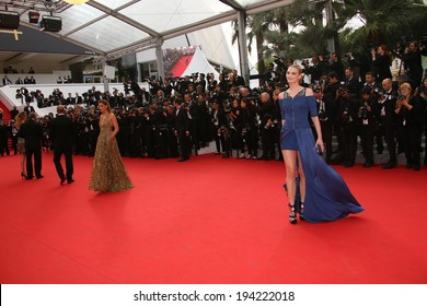 CANNES, FRANCE - MAY 21: Sarah Marshall attends the 'The Search' Premiere at the 67th Annual Cannes Film Festival on May 21, 2014 in Cannes, France.