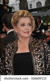 CANNES, FRANCE - MAY 22, 2011: Catherine Deneuve at the 64th Festival de Cannes awards gala. May 22, 2011  Cannes, France