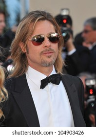 "CANNES, FRANCE - MAY 22, 2012: Actor Brad Pitt at the gala screening of his new movie ""Killing Them Softly"" in competition at the 65th Festival de Cannes on May 22, 2012  Cannes, France"