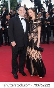 CANNES, FRANCE - MAY 22, 2015: Harvey Weinstein, Georgina Chapman attend the 'The Little Prince' premiere. 68th annual Cannes Film Festival at the Palais des Festivals