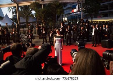 CANNES, FRANCE - MAY 22, 2015: Marion Cotillard  attends the 'Little Prince' ('Le Petit Prince') premiere. 68th annual Cannes Film Festival at the Palais des Festivals
