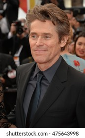 CANNES, FRANCE - MAY 22, 2016: Actor Willem Dafoe at the closing gala at the 69th Festival de Cannes.