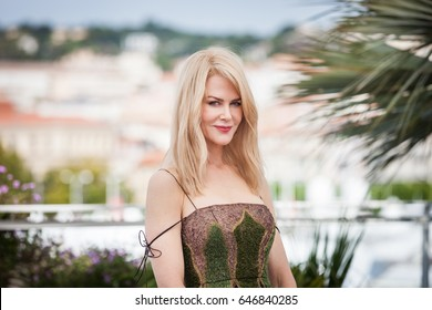 CANNES, FRANCE - MAY 22, 2017: Actress Nicole Kidman poses at a photocall for the movie 'The Killing of a Sacred Deer' on the sixth day of the 2017 Cannes Film Festival