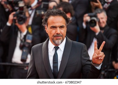 CANNES, FRANCE - MAY 22, 2017: Alejandro Gonzalez Inarritu attends 'The Killing Of A Sacred Deer' screening during the 70th annual Cannes Film Festival