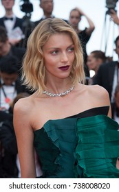 "CANNES, FRANCE. May 22, 2017: Anja Rubik at the premiere for ""The Killing of a Sacred Deer"" at the 70th Festival de Cannes"