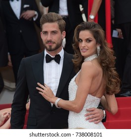 """CANNES, FRANCE. May 22, 2017: Izabel Goulart & Kevin Trapp at the premiere for """"The Killing of a Sacred Deer"""" at the 70th Festival de Cannes"""