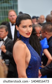 "CANNES, FRANCE. May 22, 2019: Adriana Lima at the gala premiere for ""Oh Mercy!"" at the Festival de Cannes.