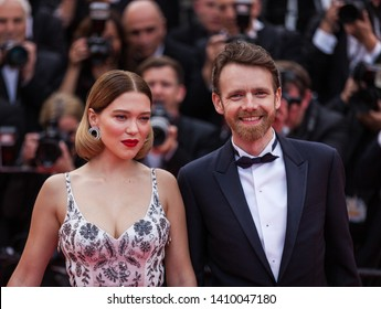 """CANNES, FRANCE - MAY 22, 2019:  Lea Seydoux and Antoine Reinartz attend the screening of """"Oh Mercy! (Roubaix, une Lumiere)"""" during the 72nd annual Cannes Film Festival"""