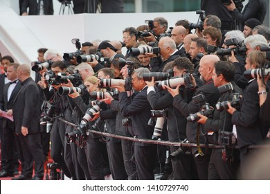 "CANNES, FRANCE. May 22, 2019: Photographer at the gala premiere for ""Oh Mercy!"" at the Festival de Cannes."