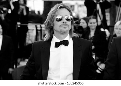 CANNES, FRANCE - MAY 22: Actor Brad Pitt attends the 'Killing Them Softly' Premiere during 65th Cannes Film Festival on May 22, 2012 in Cannes, France.