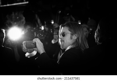 CANNES, FRANCE - MAY 22: Brad Pitt attends the 'Killing Them Softly' Premiere during 65th Annual Cannes Film Festival at Palais des Festivals on May 22, 2012 in Cannes, France.