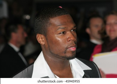 CANNES, FRANCE - MAY 22: Curtis '50 Cent' Jackson attends the 'X-Men 3: The Last Stand' premiere at the Palais des Festivals during the 59th  Cannes Film Festival May 22, 2006 in Cannes, France