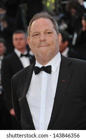 "CANNES, FRANCE - MAY 23, 2013: Harvey Weinstein at the premiere of ""The Immigrant"" at the 66th Festival de Cannes."