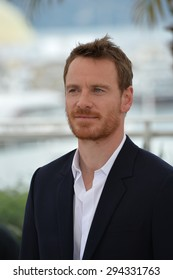 "CANNES, FRANCE - MAY 23, 2015: Michael Fassbender at the photocall for his movie ""Macbeth"" at the 68th Festival de Cannes."