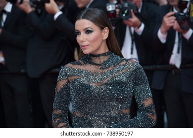 CANNES, FRANCE. May 23, 2017: Eva Longoria at the 70th Anniversary Gala for the Festival de Cannes