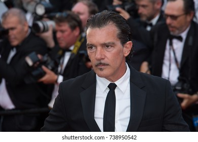 CANNES, FRANCE. May 23, 2017: Antonio Banderas at the 70th Anniversary Gala for the Festival de Cannes