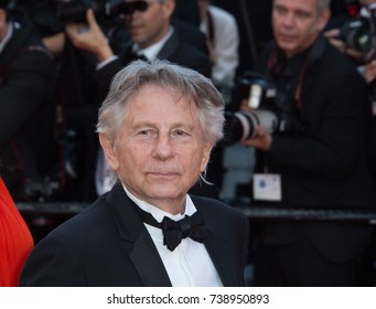 CANNES, FRANCE. May 23, 2017: Roman Polanski at the 70th Anniversary Gala for the Festival de Cannes
