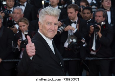 CANNES, FRANCE. May 23, 2017: David Lynch at the 70th Anniversary Gala for the Festival de Cannes