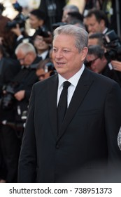CANNES, FRANCE. May 23, 2017: Former US Vice-President Al Gore at the 70th Anniversary Gala for the Festival de Cannes