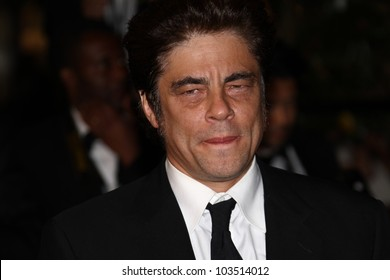 CANNES, FRANCE - MAY 23: Benicio Del Toro attends the 'Holy Motors' Premiere during the 65th Annual Cannes Film Festival at Palais des Festivals on May 23, 2012 in Cannes, France.