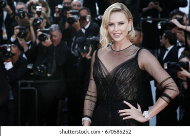 CANNES, FRANCE - MAY 23:  Charlize Theron attends the 70th Anniversary of the 70th Cannes Film Festival on May 23, 2017 in Cannes, France.
