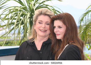 CANNES, FRANCE - MAY 23:  Chiara Mastroianni (R) and her mother Catherine Deneuve attend a photocall the 'Persepolis' at the Palais during the 60 Cannes Film Festival May 23, 2007 in Cannes, France
