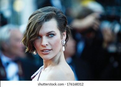 CANNES, FRANCE - MAY 23: Mila Jovovich attends 'On The Road' Premiere at Palais des Festivals on May 23, 2012 in Cannes, France.