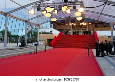 CANNES, FRANCE - MAY 23: Palais des Festivals during the 65th Annual Cannes Film Festival on May 23, 2012 in Cannes, France