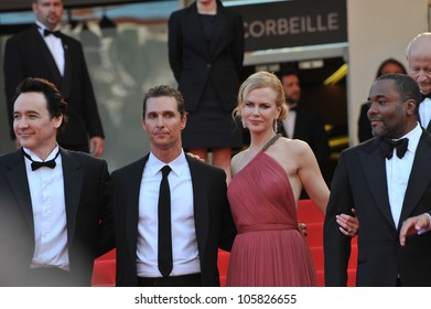 "CANNES, FRANCE - MAY 24, 2012: Nicole Kidman, John Cusack, Matthew McConaughey & director Lee Daniels at the gala screening of their new movie ""The Paperboy"" in Cannes. May 24, 2012  Cannes, France"