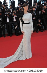 CANNES, FRANCE - MAY 24, 2014: Paz Vega at the gala awards ceremony at the 67th Festival de Cannes.