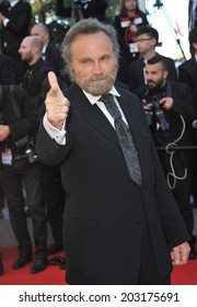 CANNES, FRANCE - MAY 24, 2014: Franco Nero at the gala awards ceremony at the 67th Festival de Cannes.