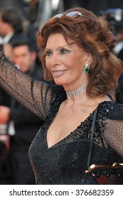 CANNES, FRANCE - MAY 24, 2014: Sophia Loren at the gala awards ceremony at the 67th Festival de Cannes.