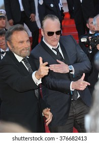 CANNES, FRANCE - MAY 24, 2014: Franco Nero & Quentin Tarantino at the gala awards ceremony at the 67th Festival de Cannes.