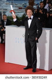 CANNES, FRANCE - MAY 24, 2015: Michel Franco - winner of Best Screenplay Award - at the winners' photocall at the 68th Festival de Cannes.