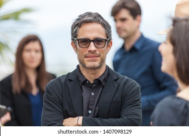 """CANNES, FRANCE - MAY 24, 2019: Gael García Bernal attends thephotocall for """"It Must Be Heaven"""" during the 72nd annual Cannes Film Festival"""