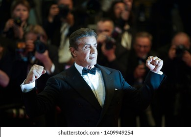 "CANNES, FRANCE. May 24, 2019: Sylvester Stallone at the Hommage to Sylvester Stallone and screening of ""Rambo: First Blood"" at the Festival de Cannes."