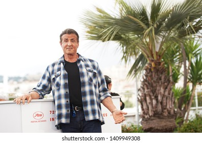 CANNES, FRANCE - MAY 24, 2019: Sylvester Stallone attends the photocall for Sylvester Stallone & Rambo V: Last Blood during the 72nd annual Cannes Film Festival