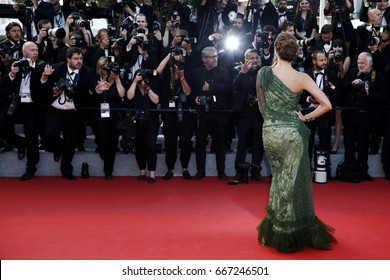CANNES, FRANCE - MAY 24: Iris Mittenaere attends the 'The Beguiled' premiere during the 70th Cannes Film Festival on May 24, 2017 in Cannes, France.