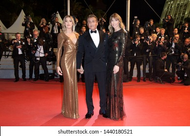 "CANNES, FRANCE - MAY 24: Sistine Stallone, Sylvester Stallone and Jennifer Flavin attend the premiere of ""Rambo V Last Blood"" during the 72nd Cannes Film Festival on May 24, 2019 in Cannes, France."